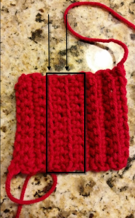 Front-loop single crochet.