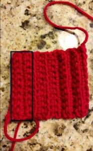 Standard single crochet.